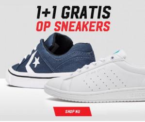 1+1 gratis op veel sneakers