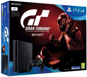 Playstation 4 Slim (Black) 1TB + Gran Turismo Sport voor €270