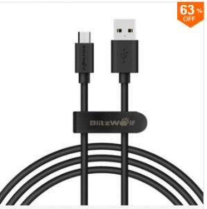 BlitzWolf Micro USB kabel voor €1,66