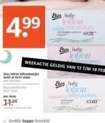 Etos lotion billendoekjes doos met 6 pakjes voor €4,99