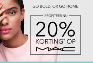 Alle MAC make-up 20% korting