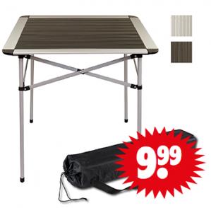 Inklapbare aluminium tafel voor €9,99
