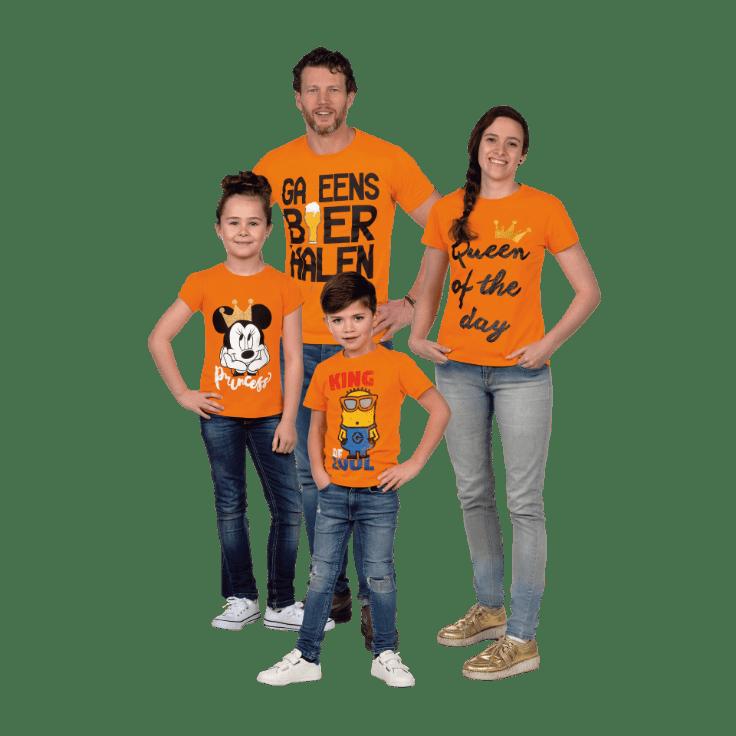 Oranje shirts voor €4,99