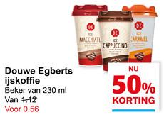 Douwe Egberts ijskoffie 50% korting