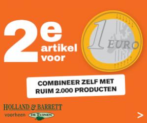 Holland and Barret - De tuinen nu elk 2e product voor €1