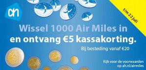 Ontvang €5 korting bij inwisselen Airmiles