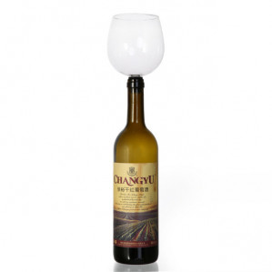 Glas voor wijnfles €6,25
