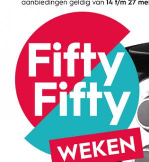 Fifty fifty weken bij Blokker