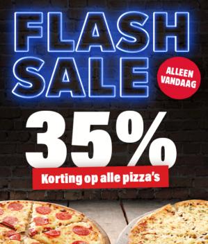 35% koring op alle pizza's