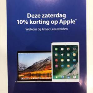 Op alles van Apple 10% korting bij Amac in Leeuwaarden