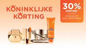 30% korting op diverse producten