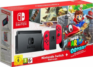Nintendo Switch - Red Super Mario Odyssey Limited Edition voor €325