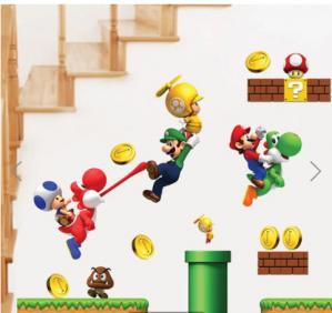 Super Mario muursticker voor €0,89 dmv code