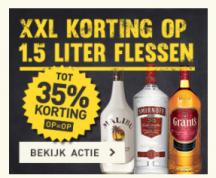 Gall & Gall tot 35% korting op alle 1,5 liter flessen