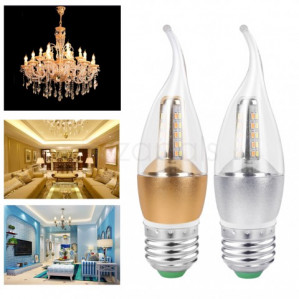 Ledlamp 5w E27 kaarsmodel wit en warm wit licht voor €0,89 dmv code
