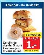 5 Broodjes voor €1