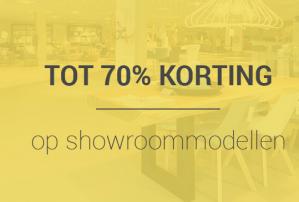 Tot 70% korting op showroommodellen + 10% extra