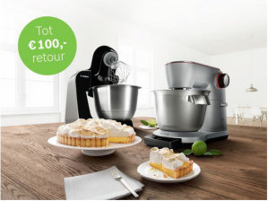Tot 100 euro retour op een Bosch keukenmachine