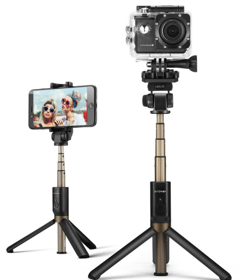 BlitzWolf sports Versatile 3 in 1 Bluetooth Tripod Selfie Sticks voor €14,62