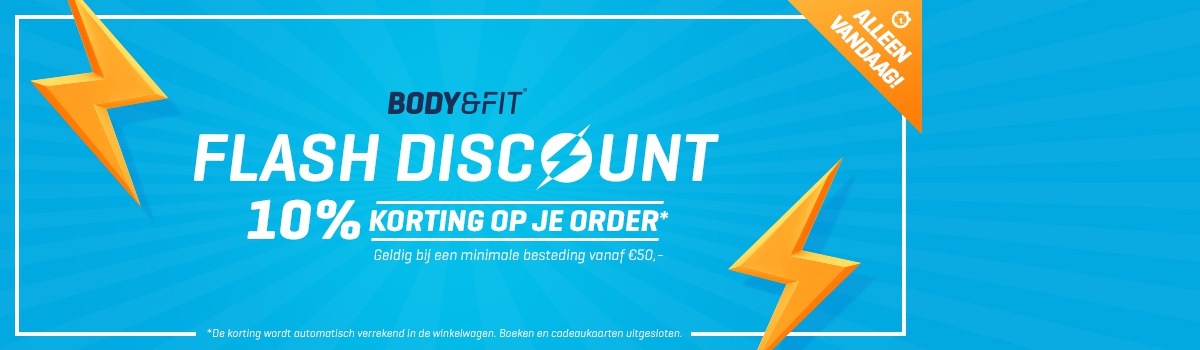 Bodyenfitshop Flash discount met 10% korting