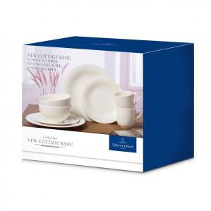 Villeroy & Boch New Cottage Basic Set - 8-dlg - Porselein - Wit voor €30