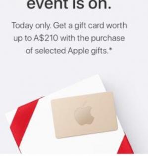 Black Friday bij Apple giftcards cadeau bij producten