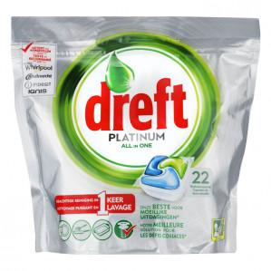 Dreft Platinum All-in-One Original Vaatwastabletten voor €1