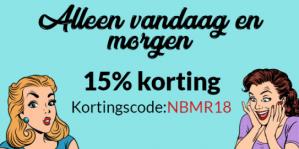 15% korting op je bestelling