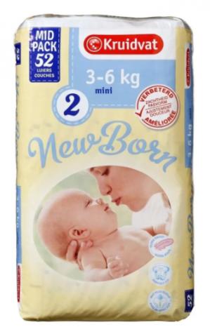 Diverse Kruidvat Newborn Luiers Midpacks 1+1 gratis