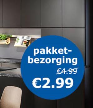 Ikea pakketbezorging voor €2,99