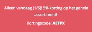 5% korting op je bestelling bij Doublepoint