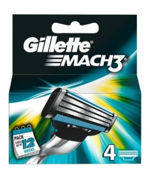 Gilette Mach Fushion of Mach3 scheermesjes 4-pack voor €6,95