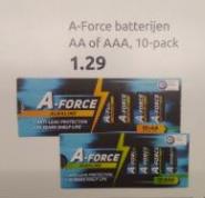 Alkaline aa of aaa batterijen 10 stuks voor €1,29