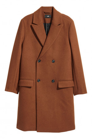Double breasted jas bruin voor €29.99
