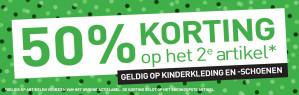 Scapino sale met 50% korting op het 2de artikel kinderkleding en meer
