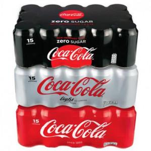 15 blikjes Coca Cola (regular, zero en light) Albert Heijn XL Tilburg voor €4,25