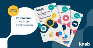 Gratis KNAB bankpassen stickervel