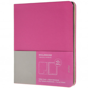 Ipad 3 and 4 Moleskine Magenta Slim Digital Cover voor €39,95