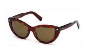 Dsquared2 dq0170 53 69j Brown zonnebril voor €50,36 dmv code