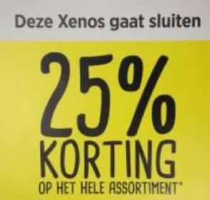 25% korting op het gehele assortiment Xenos Nijmegen