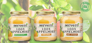 Probeer Servero 100% Appelmoes , kleine pot 345 - 350 gram voor €0,50. dmv cashback