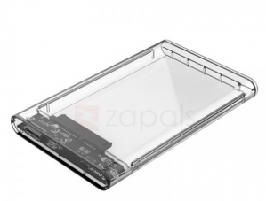 USB 3.0 2.5 inch hard disk  transparent behuizing voor €4,99