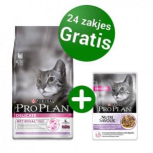 Bij aankoop van 10 kg zak van Pro Plan Gratis Pro Plan® natvoer