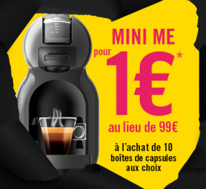 Black Friday - Mini Me koffiemachine voor €1