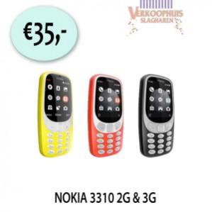 Nokia mobiele telefoon 3310 3G voor €35