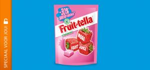 Probeer Fruittella met 50% korting dmv cashback