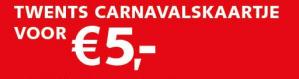 Carnavalsticket voor bus/trein Twents + Blauwnet voor €5