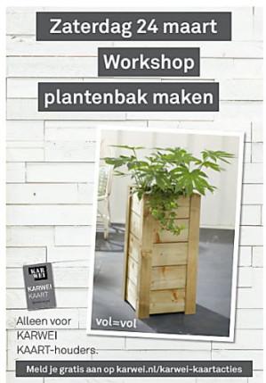 Gratis workshop plantenbak maken