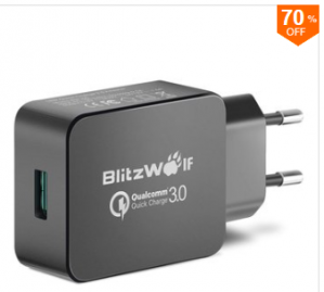BlitzWolf® BW-S5 QC3.0 18W USB Charger EU Adapter voor €5,95