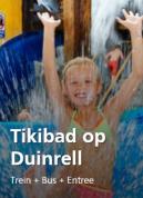 Tickets Tikibad met treinkaartje voor €29